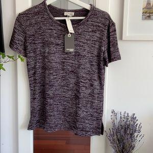 Aritzia - Maroon Crewneck T-Shirt